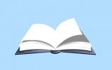 El lector de libros con hojas de papel